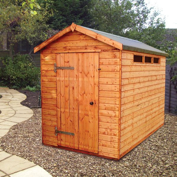 Major Heavy Duty Apex Shed - 1006 with 900mm wide door and security windows