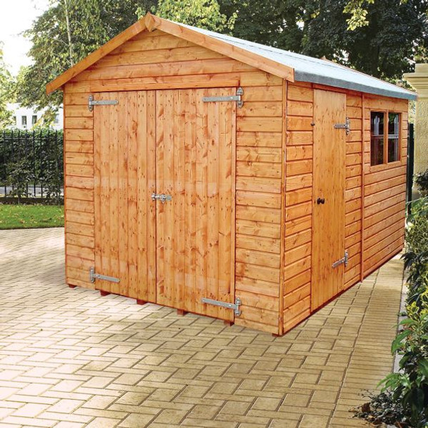 Major Heavy Duty Apex Shed - 1208 with 1.5m double doors and extra door