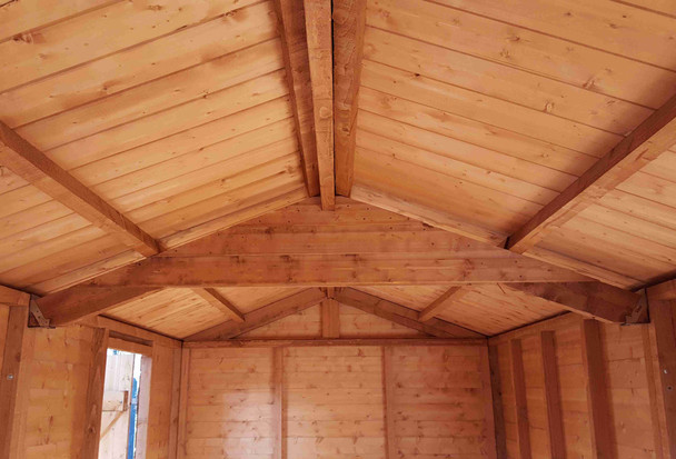 Major Heavy Duty Apex Shed - models 4.2m in length or longer have additional roof support (design varies depending on width)