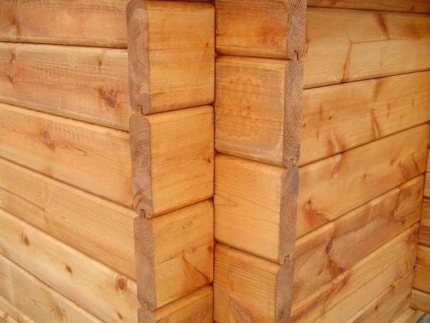 Interlocking log construction