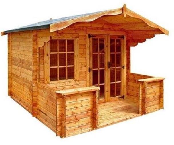 Charnwood Apex Log Cabin With Verandah - Model B