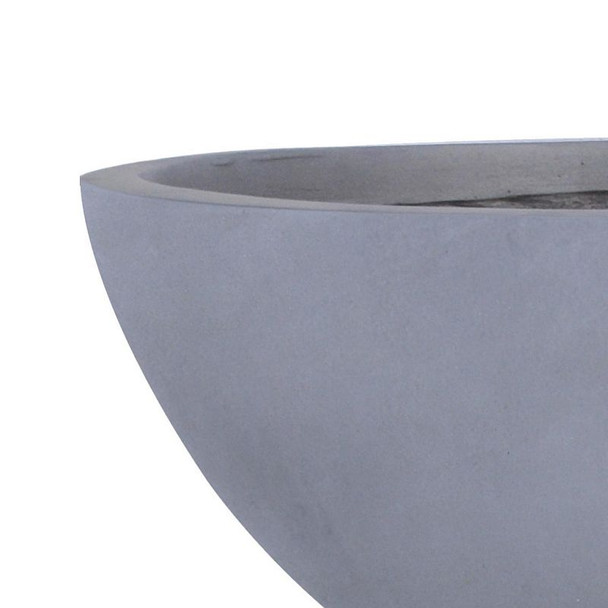 Smooth Fibrestone Dish Planter
