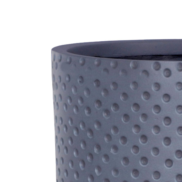 Dotted Style Fibrestone Cylinder Planter with Feet