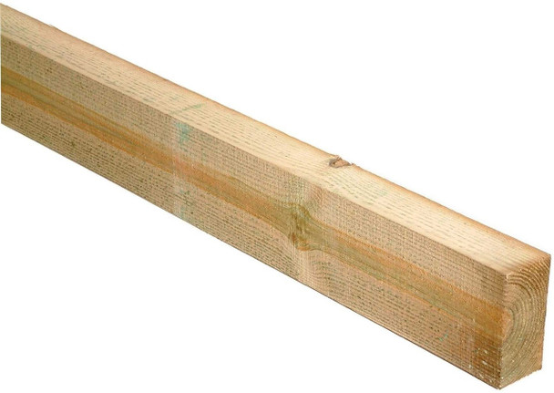 47 x 100 x 1800mm - Sawn Treated Green Timber (Wall Plate)