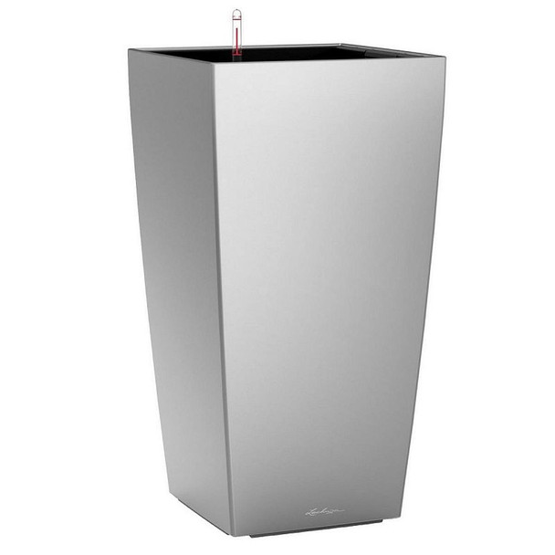 Self-Watering Metallic/Glossy Polyresin Column Planter H95/75/56cm