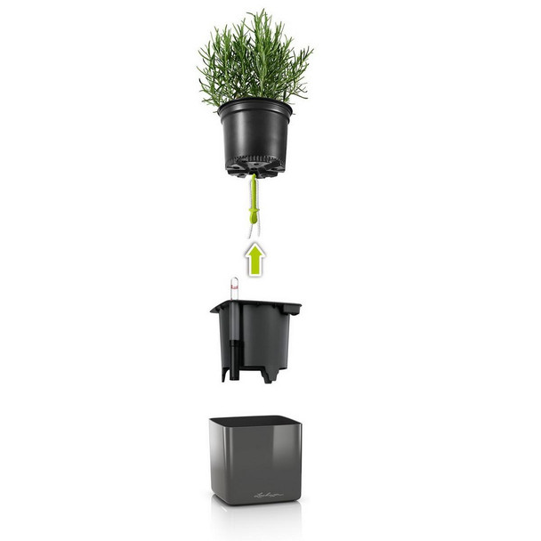 Self-Watering Glossy Polyresin Green Wall Kit Planters