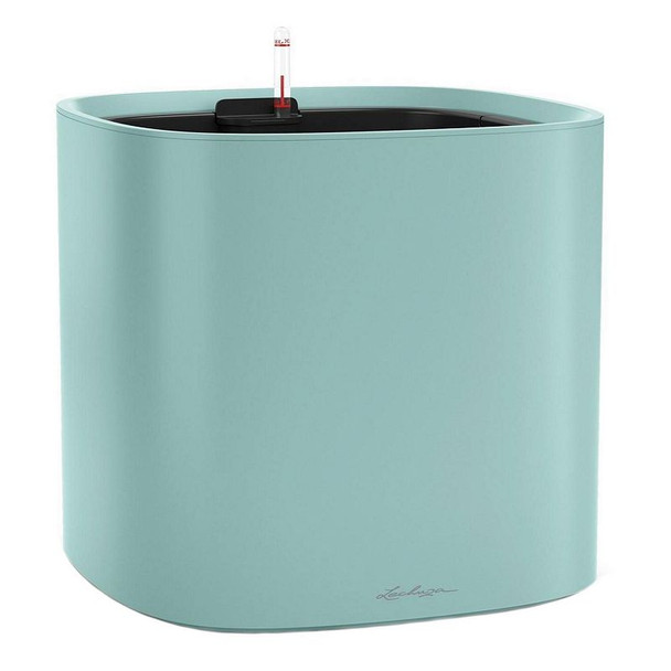 Self-Watering Matte Polyresin Rounded Cube Planter with Substrate