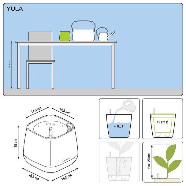 YULA Poly Resin Table Self-watering Planter