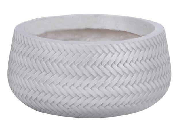 Basket Weave Fibrestone Bowl Planter