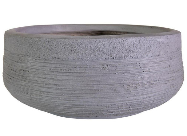 Ribbed Fibrestone Bowl Planter