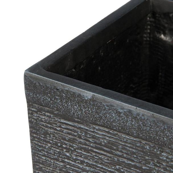 Ribbed Fibrestone Cube Planter