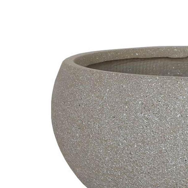 Textured Concrete Effect Fibrestone Deep Bowl Planter