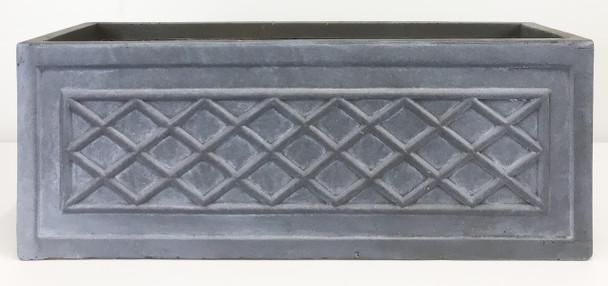 Fibrestone Grey Lattice Window Box PlanterFibrestone Grey Lattice Window Box Planter