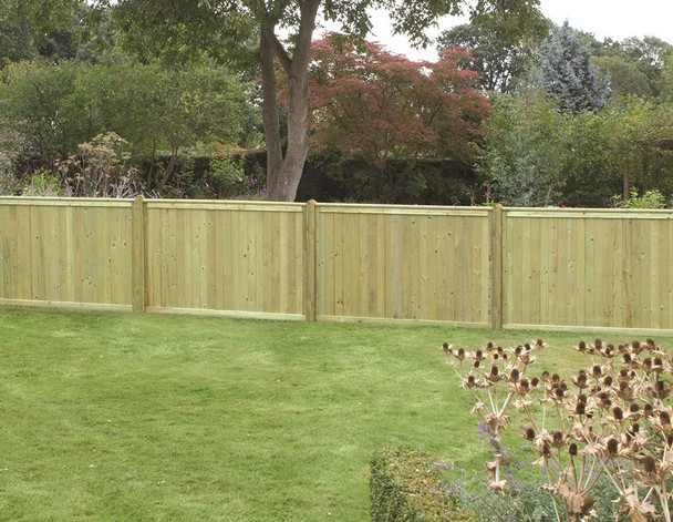 Tongue & Groove Flat Top Fence Panel (1800 x 1200mm) - Pressure Treated Green Timber