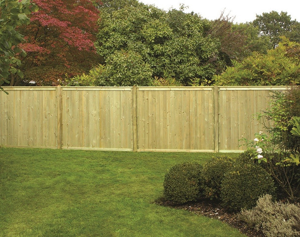 Tongue & Groove Flat Top Fence Panel (1800 x 1500mm) - Pressure Treated Green Timber