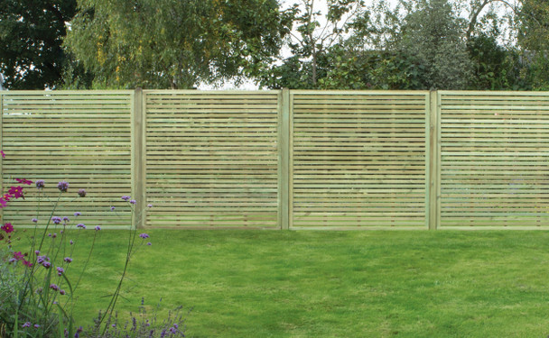 Slatted Fence Panel (1800 x 1800mm) - Pressure Treated Green Timber