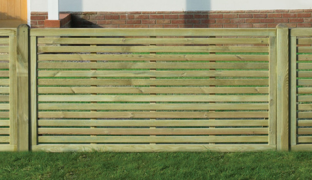 Slatted Fence Panel (1800 x 900mm) - Pressure Treated Green Timber