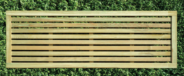 Slatted Fence Panel (1800 x 600mm) - Pressure Treated Green Timber