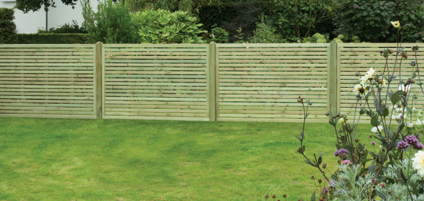 Slatted Fence Panel (1800 x 1200mm) - Pressure Treated Green Timber