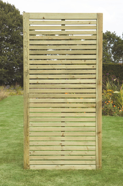 Slatted Wing Fence Panel (1800 x 900mm) - Pressure Treated Green Timber