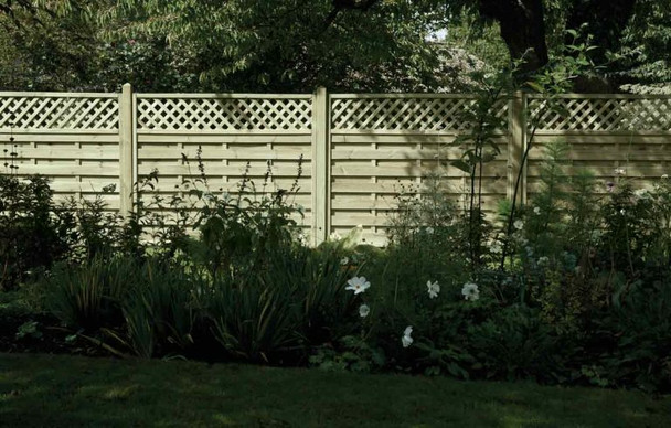 Horizontal Lattice Top Fence Panel (1800 x 1500mm) - Pressure Treated Green Timber