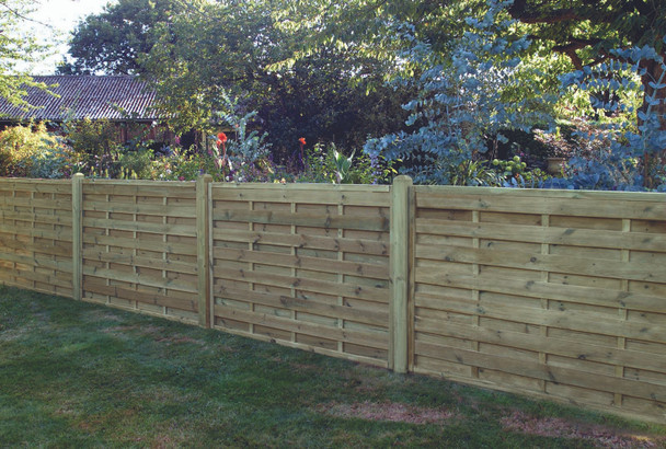 Square Horizontal Fence Panel (1800 x 1200mm) - Pressure Treated Green Timber