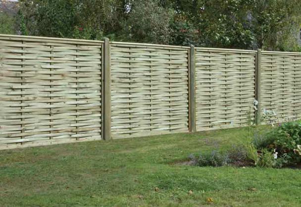 Premium Woven Fence Panel (1800 x 1500mm) - Pressure Treated Green Timber