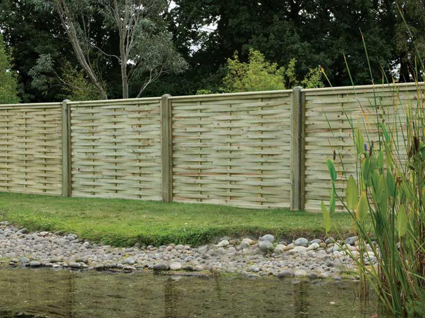 Premium Woven Fence Panel (1800 x 1200mm) - Pressure Treated Green Timber