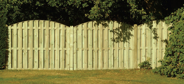Double Sided Paling Fence Panel (1830 x 1500mm) - Pressure Treated Green Timber
