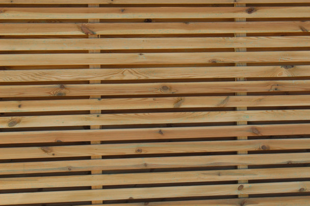Double Slatted Fence Panel (1800 x 1800mm) - Pressure Treated Green Timber