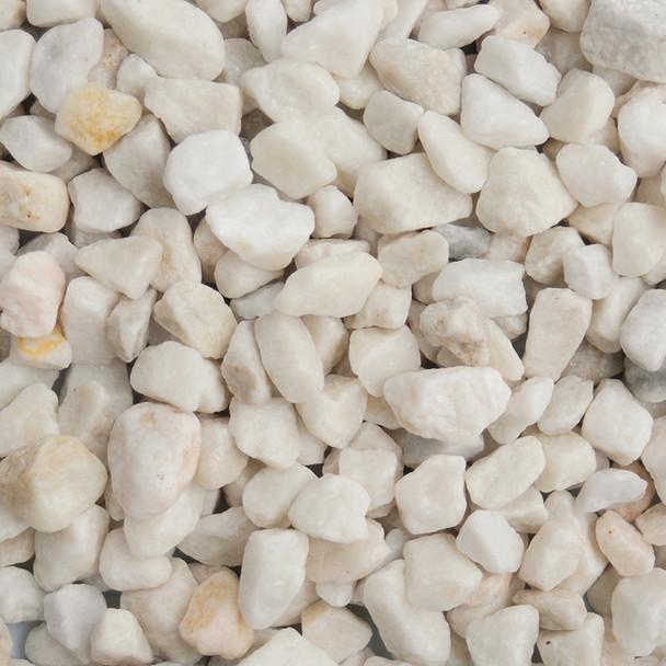Long Rake Spar 20mm Polar White Chippings Bulk Bag - Wet