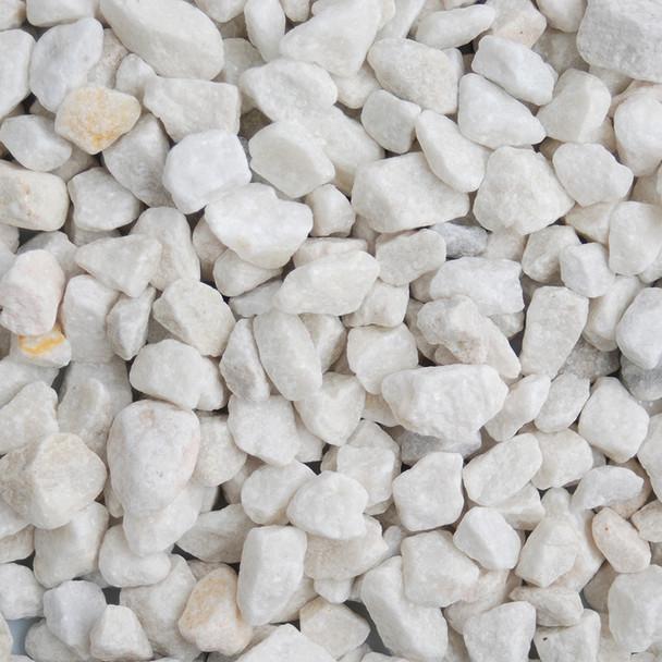 Long Rake Spar 20mm Polar White Chippings Mini Bag - Dry