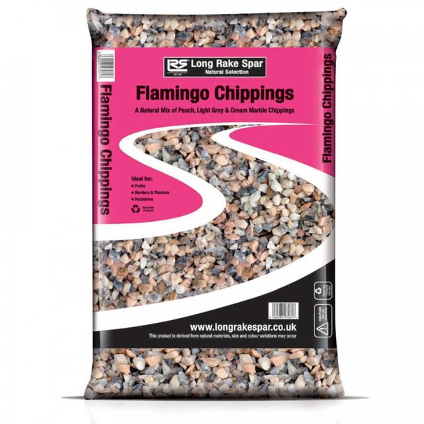 Long Rake Spar 14-20mm Flamingo Chippings Mini Bag