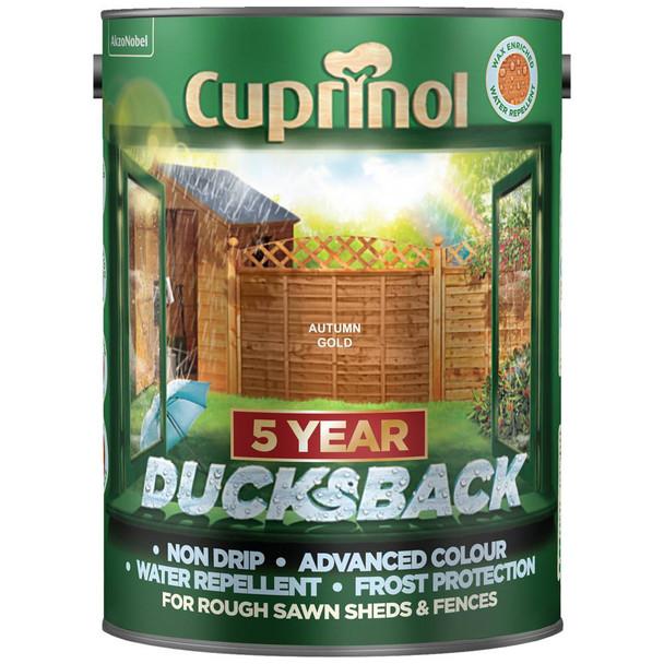 Cuprinol Ducksback 5 Ltr Autumn Gold