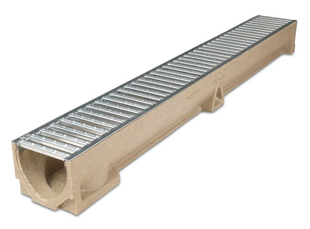 ACO RainDrain Polymer Channel with Galvanised Steel Grating (1000mm)