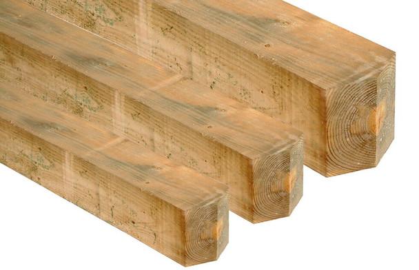 12' 5 bar Field Gate Kit (Universal Hang) - Green Timber with Post, Hinge Set and Self-Locking Catch Set