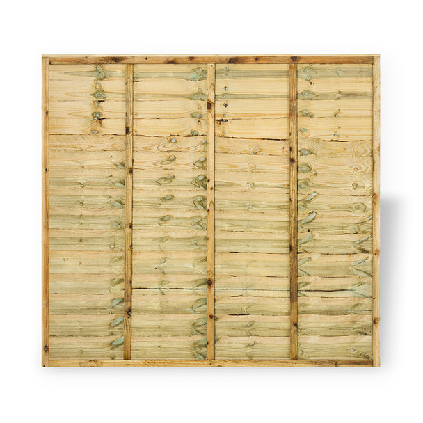 Lap Panel Fence Panel in Natural wood colour Front View