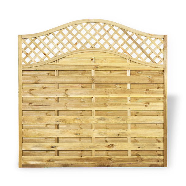 Omega Lattice Fence Panel (1.8 x 1.8m) - Pressure Treated Natural Timber