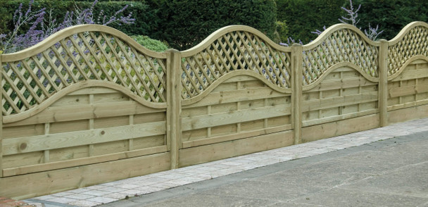 Omega Lattice Top Fence Panel (1800 x 900m) - Pressure Treated Green Timber