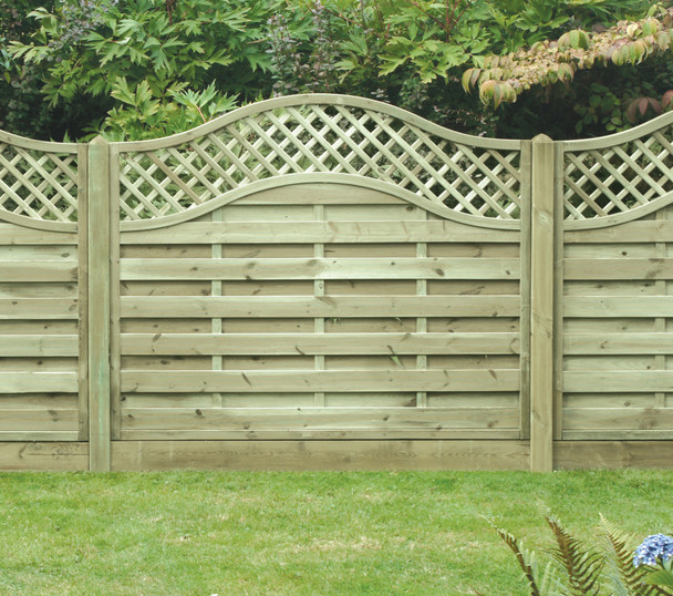 Omega Lattice Top Fence Panel (1800 x 1500m) - Pressure Treated Green Timber