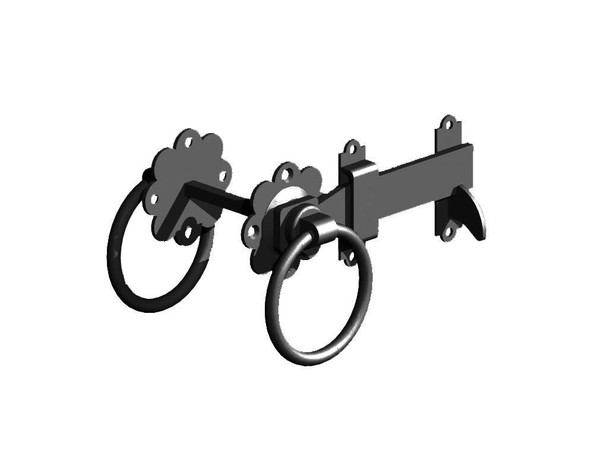 "5"" Black Ring Gate Latch (Pre-Packed With Screws)"