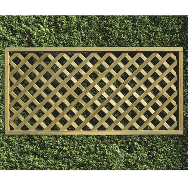 Heavy Diamond Lattice Panel (1800 x 900mm) - Pressure Treated Green Timber