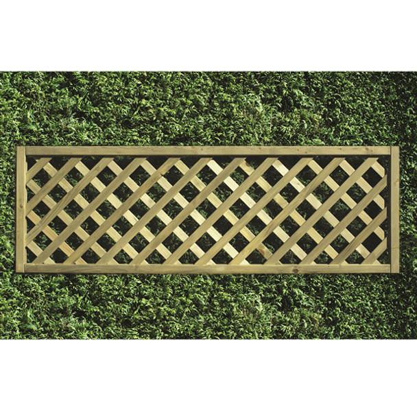 Heavy Diamond Lattice Panel (1800 x 600mm) - Pressure Treated Green Timber