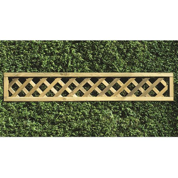 Heavy Diamond Lattice Panel (1800 x 300mm) - Pressure Treated Green Timber