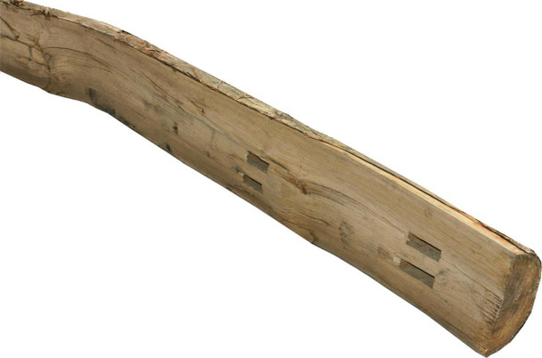 Chestnut Cleft Fence Post (1980mm) - Morticed for 2 Rails