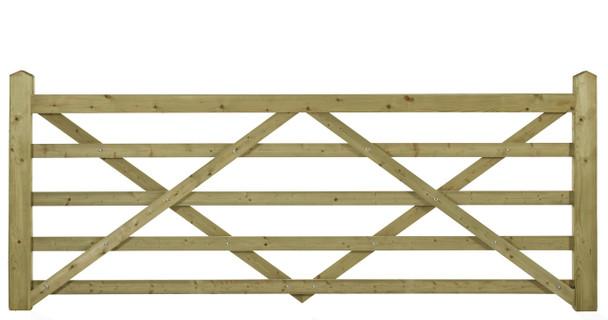 9' - 5 bar Field Gate Universal Hang