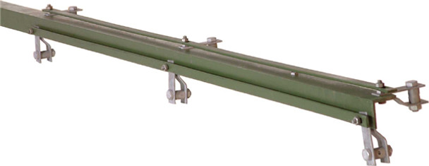 2.50m Green 50 X 50 X 6mm Angle Iron Corner For 1800mm Fence