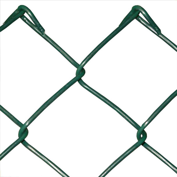 1800mm Galvanised Green Chain Link (50 x 3mm Mesh) - 25m Roll