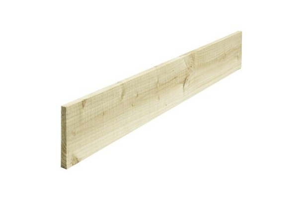 Timber Gravel Board (3000 x 150 x 22mm) -  Pressure Treated Green Softwood
