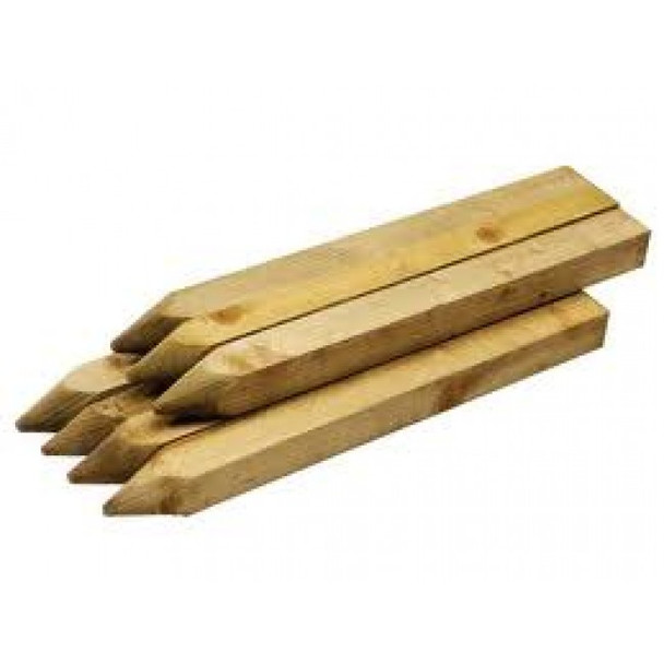 450mm Pointed Pegs 38x38mm Pressure Treated (Natural)